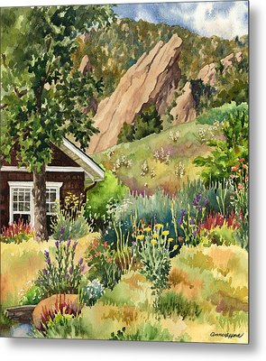 Metal Print featuring the painting Chautauqua Cottage by Anne Gifford
