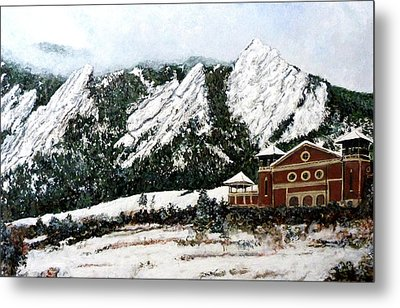 Chautauqua - Winter, Late Afternoon Metal Print by Tom Roderick