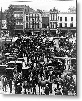 Cheapside Public Square In Lexington - Kentucky - April 7  1920 Metal Print