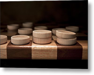 Checkers I Metal Print by Tom Mc Nemar
