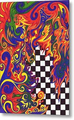 Checkers  Metal Print by Mandy Shupp