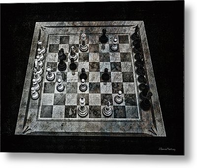 Checkmate In One Move Metal Print by Ramon Martinez