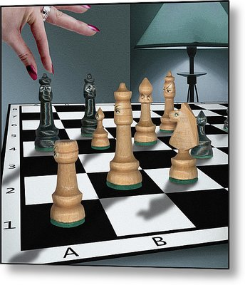 Checkmate Metal Print by Marty Garland