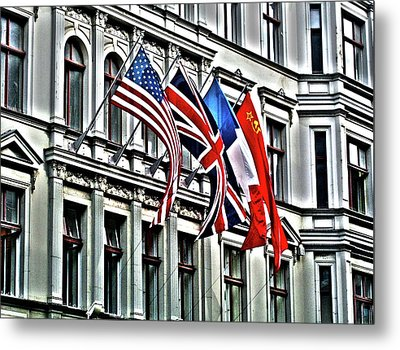 Checkpoint Charlie Metal Print by Juergen Weiss