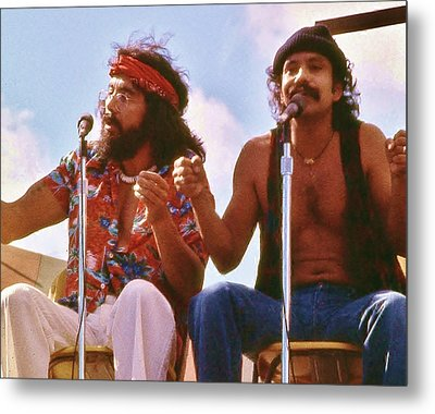 Cheech And Chong Of Old Metal Print by Craig Wood