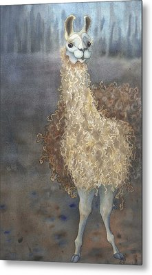 Cheeky The Llama Metal Print by Anne Havard