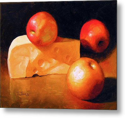 Cheese And Apples Metal Print by Timothy Jones