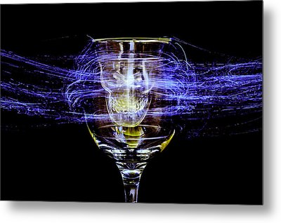 Cheese And Wine Metal Print by Marnie Patchett
