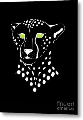 Cheetah Inverted Metal Print
