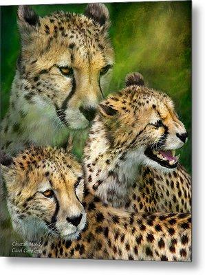 Cheetah Moods Metal Print by Carol Cavalaris