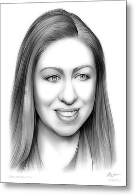 Chelsea Clinton Metal Print by Greg Joens