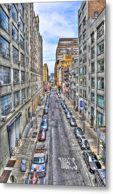 Chelsea Street From The High Line Metal Print by Randy Aveille