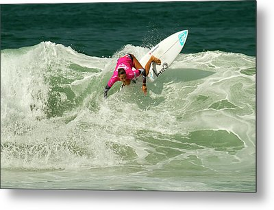 Chelsea Tuach Surfer Girl Metal Print by Waterdancer