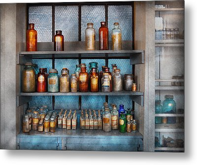 Chemist - My First Chemistry Set  Metal Print by Mike Savad