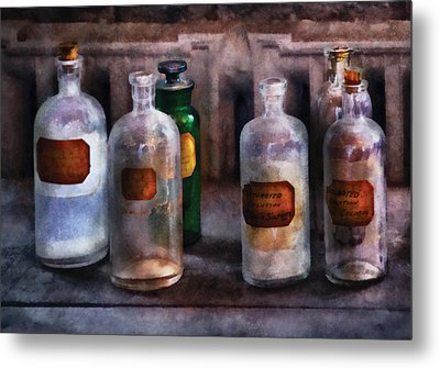 Chemistry - Saturated Solutions Metal Print by Mike Savad