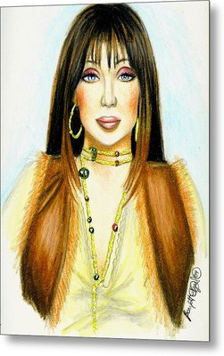 Cher Metal Print by Scarlett Royal