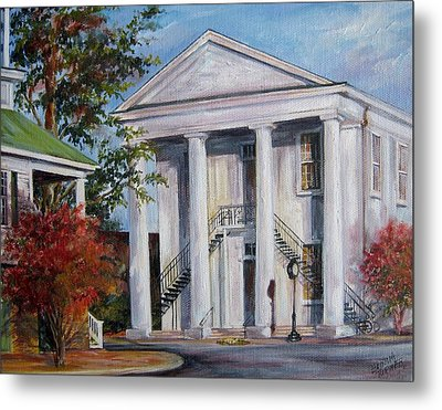 Cheraw Town Hall In The Fall Metal Print by Gloria Turner