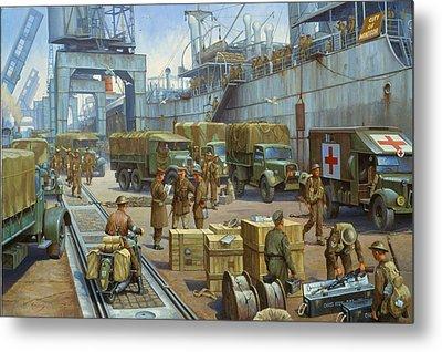 Cherbourg 1940. Metal Print by Mike  Jeffries