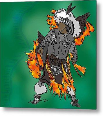 Cherokee 2 Metal Print by M Blaze Wolenski