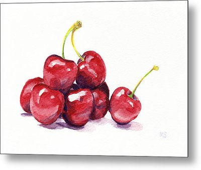 Cherries Metal Print by Michelle Sheppard