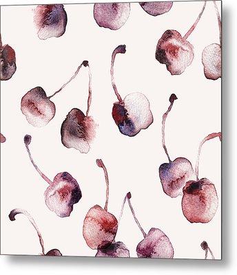 Cherries Metal Print by Varpu Kronholm