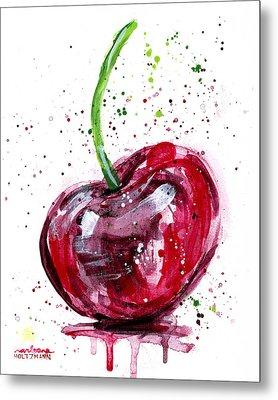 Cherry 2 Metal Print by Arleana Holtzmann