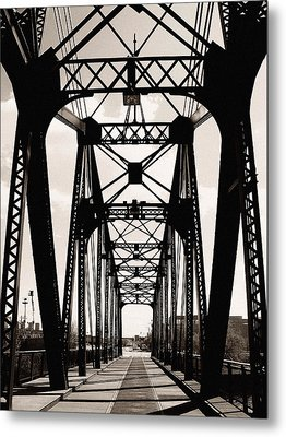 Cherry Avenue Bridge Metal Print by Kyle Hanson