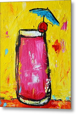 Cherry Blossom - Tropical Drink Metal Print