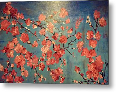 Cherry Blossoms Metal Print by Anza Arain