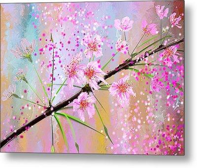Cherry Blossoms Art Metal Print by Lourry Legarde