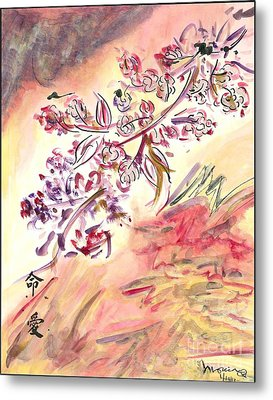 Cherry Blossoms Metal Print by Monica Mitchell