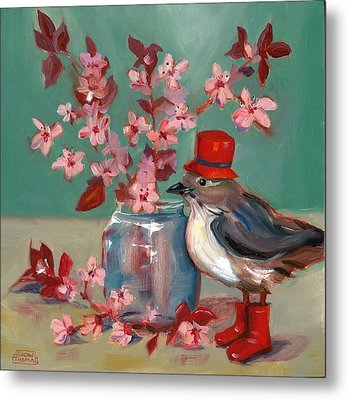 Cherry Blossoms Metal Print by Susan Thomas