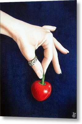 Metal Print featuring the drawing Cherry Bomb by Danielle R T Haney