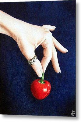 Cherry Bomb Metal Print by Danielle R T Haney