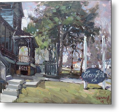 Cherry Hill Pub Metal Print by Ylli Haruni