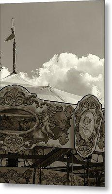 Cherub In The Clouds Metal Print