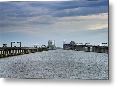 Chesapeake Bay Bridge Maryland Metal Print by Brendan Reals
