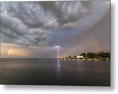 Metal Print featuring the photograph Chesapeake Bay Rainbow Lighting by Jennifer Casey