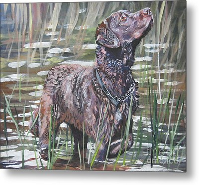 Chesapeake Bay Retriever Bird Dog Metal Print by Lee Ann Shepard