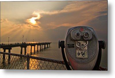 Chesapeake Bay Sunset Metal Print by Daniel Lowe