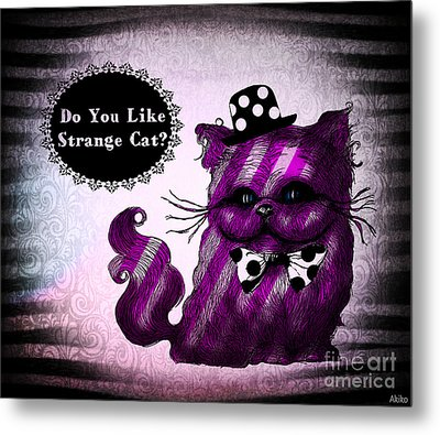 Cheshire Cat Metal Print by Akiko Okabe