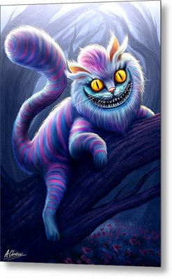 Cheshire Cat Metal Print by Anthony Christou