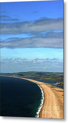 Metal Print featuring the photograph Chesil Beach by Baggieoldboy