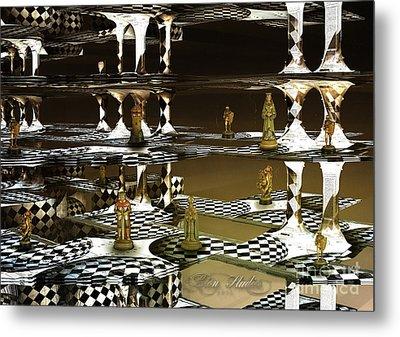 Chess Anyone Metal Print by Melissa Messick