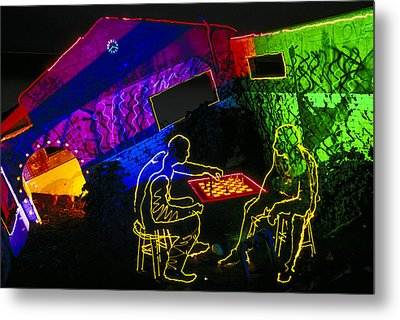 Chess Metal Print by Garry Gay