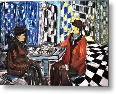 Chess Mania Metal Print by Evelina Popilian