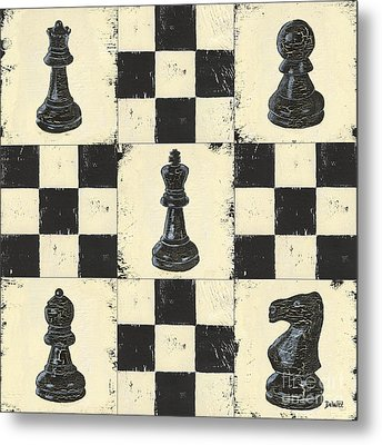 Chess Pieces Metal Print