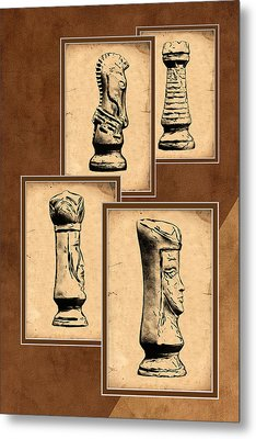Chess Pieces Metal Print by Tom Mc Nemar