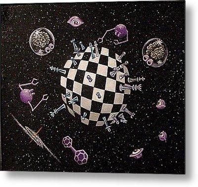 Chess Planet Metal Print