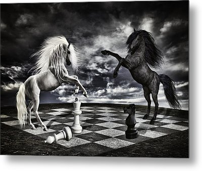 Chess Players Metal Print by Mihaela Pater